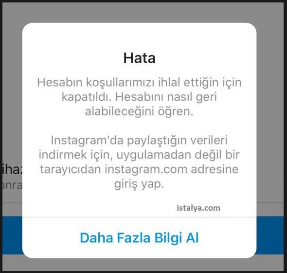 Instagram Hesabım Kapatıldı Sorunu Kesin Çözüm! (Account Disabled) 1