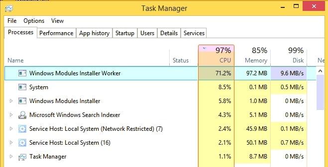 Windows Modules Installer Worker Nasıl kapatılır? 1