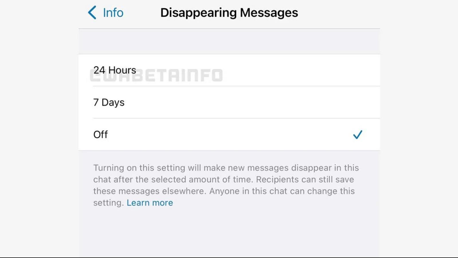 WhatsApp, Otomatik Silinen Mesajlara '24 Saat' Seçeneği Getiriyor ! 2