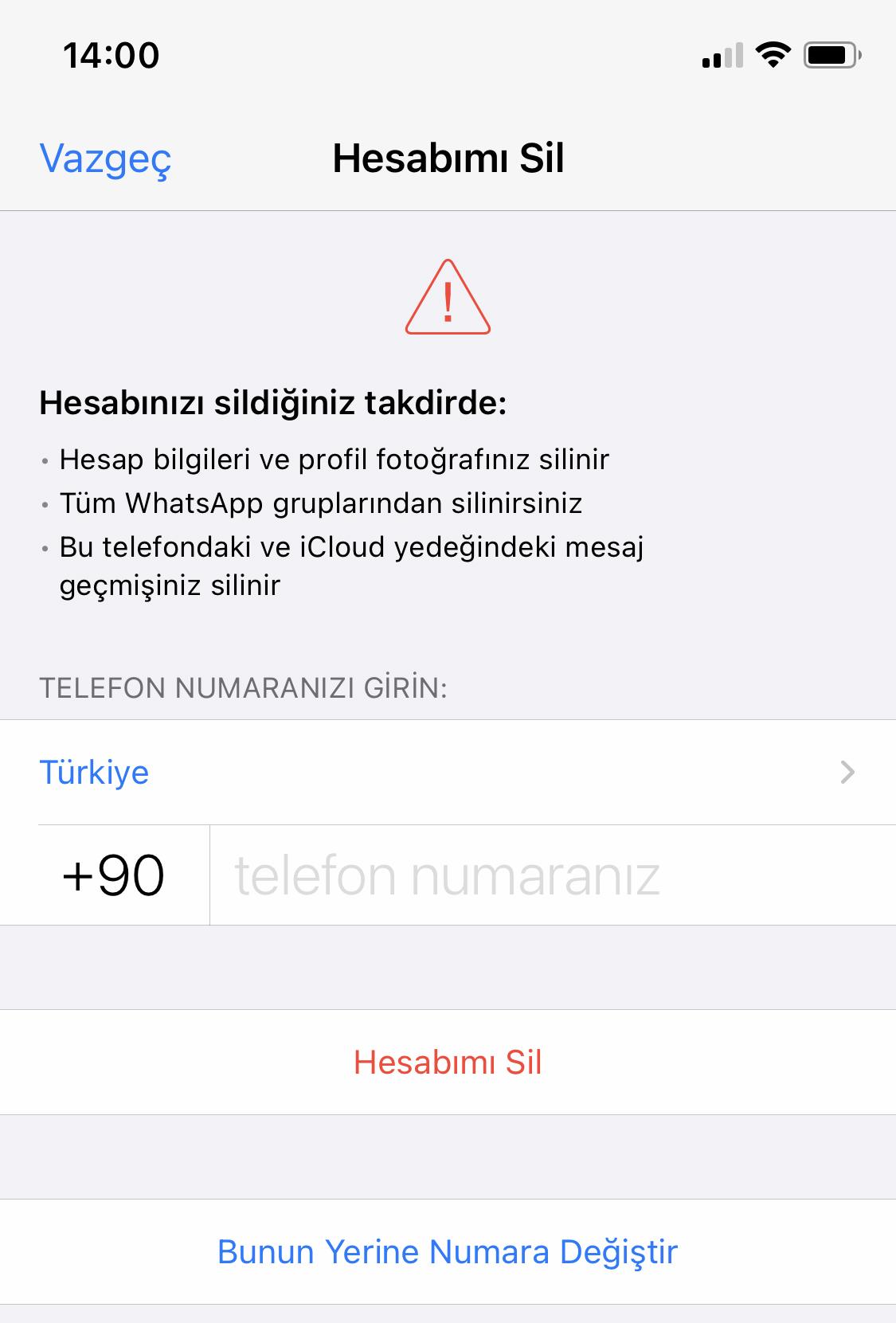WhatsApp Hesabı Kalıcı Olarak Nasıl Silinir? 2