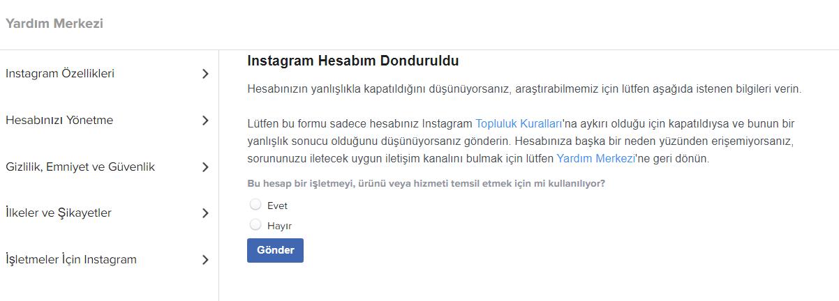 Instagram Hesabım Kapatıldı Sorunu Kesin Çözüm! (Account Disabled) 8