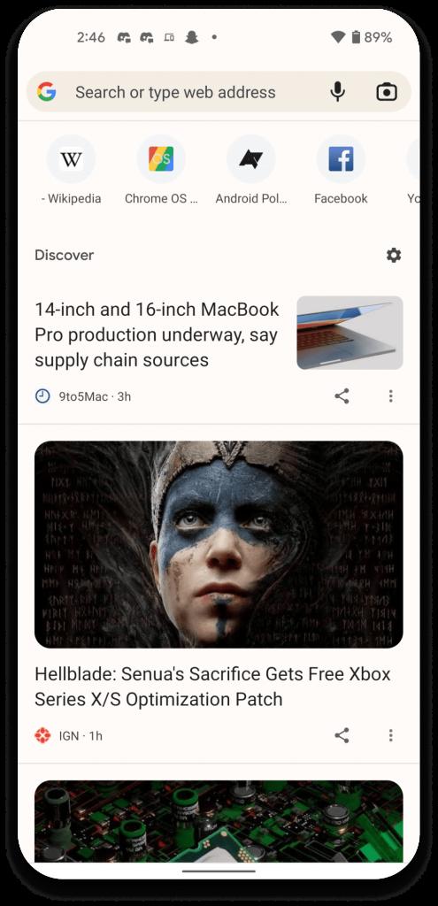 Chrome Android Tasarımı Değişiyor! İşte Detaylar 2