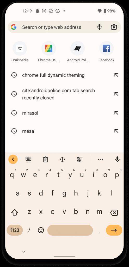 Chrome Android Tasarımı Değişiyor! İşte Detaylar 1