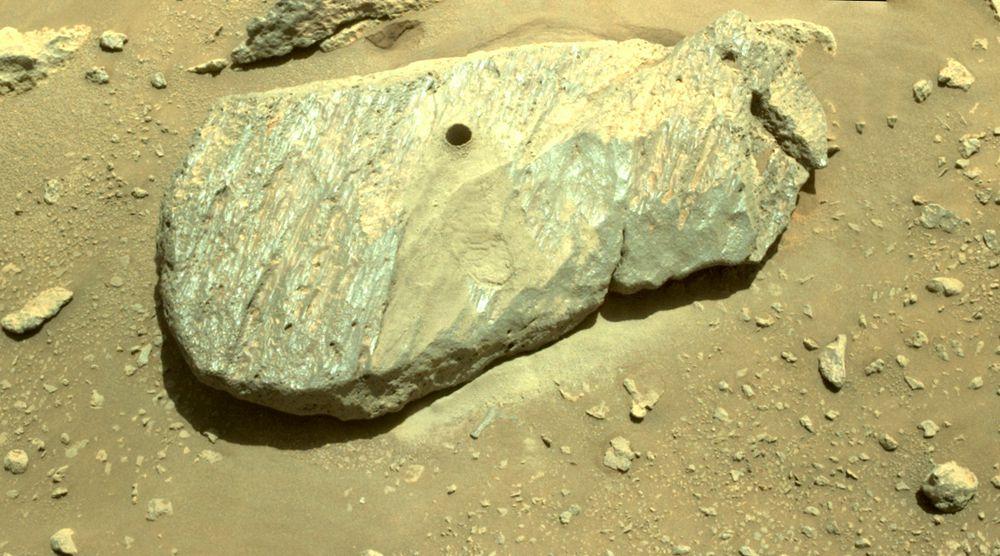 NASA'nın Perseverance Gezicisi Nihayet İlk Mars Kaya Örneğini Aldı! 2