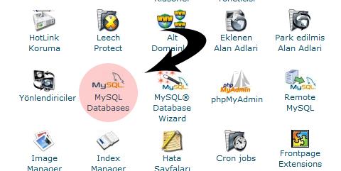 cPanel MySQL Oluşturma 2