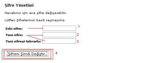 Cpanel Şifre Değiştirme 2