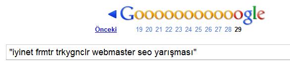 iyinet frmtr trkygnclr webmaster seo yarışması 2
