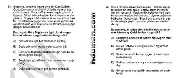 2006 Kpss Önlisans Genel Yetenek Soruları 13