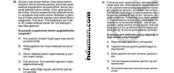 2006 Kpss Önlisans Genel Yetenek Soruları 14