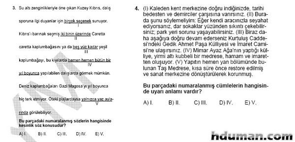 2006 Kpss Önlisans Genel Yetenek Soruları 3