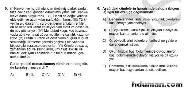 2006 Kpss Önlisans Genel Yetenek Soruları 4
