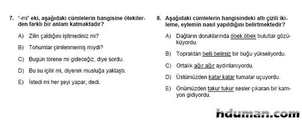2006 Kpss Önlisans Genel Yetenek Soruları 5
