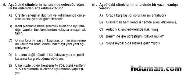 2006 Kpss Önlisans Genel Yetenek Soruları 6