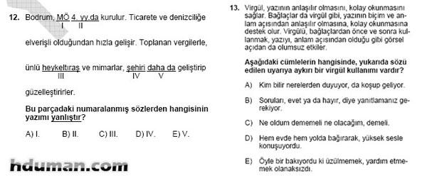 2006 Kpss Önlisans Genel Yetenek Soruları 7