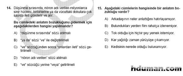 2006 Kpss Önlisans Genel Yetenek Soruları 8