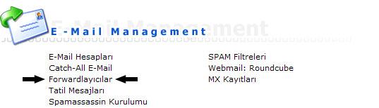DirectAdmin E-mail Hesabı Yönlendirme 1